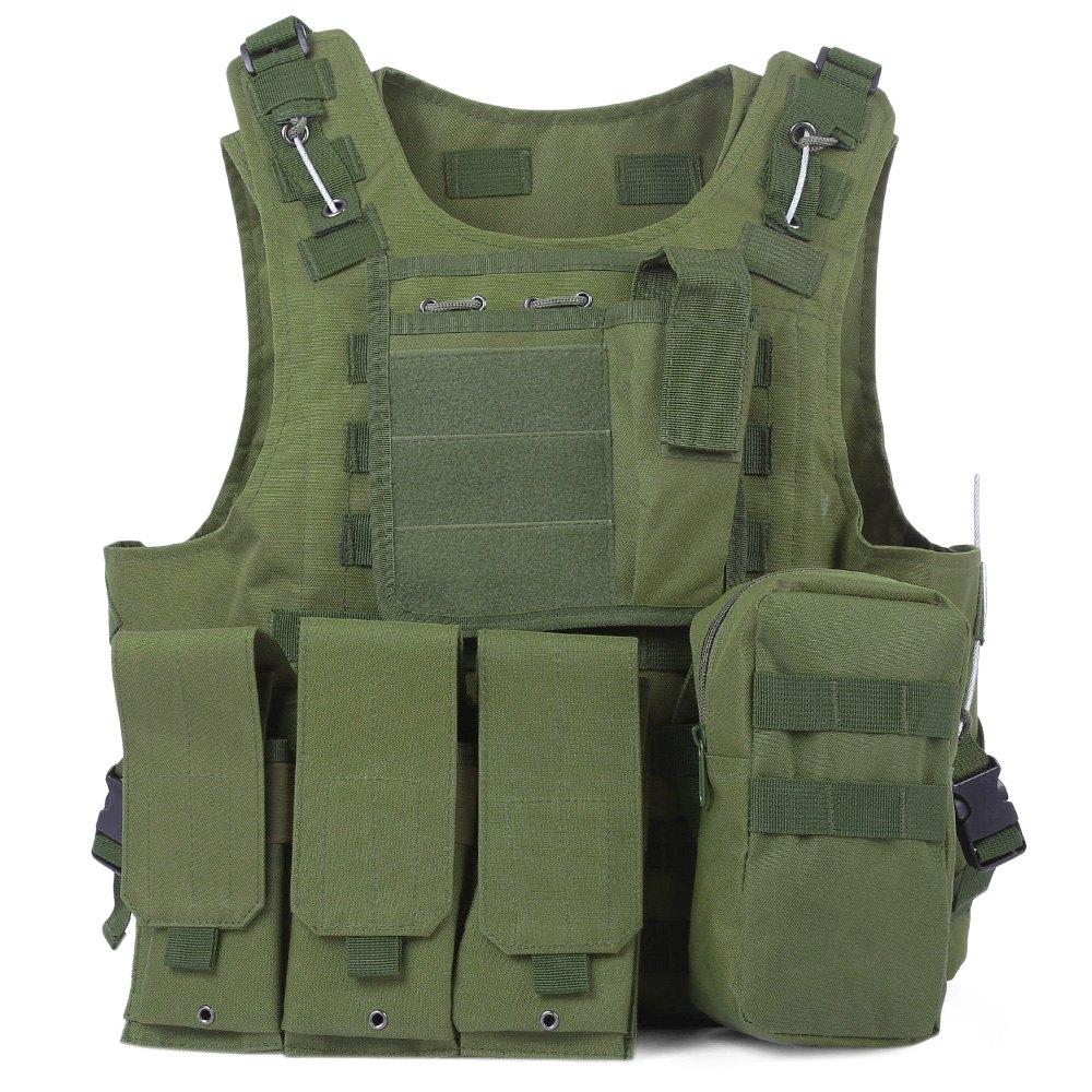 Newest Style Amphibious font b Tactical b font Military Molle Waistcoat Combat Assault Plate Carrier Vest