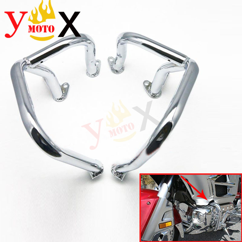 Motorcycle Accessories & Parts Strong-Willed Chrome Left & Right Front Engine Guards Crash Bars Safety Bumpers Knee Leg Protector For Honda Gl1800 Goldwing 2001-2016 Gl1800a Wide Varieties