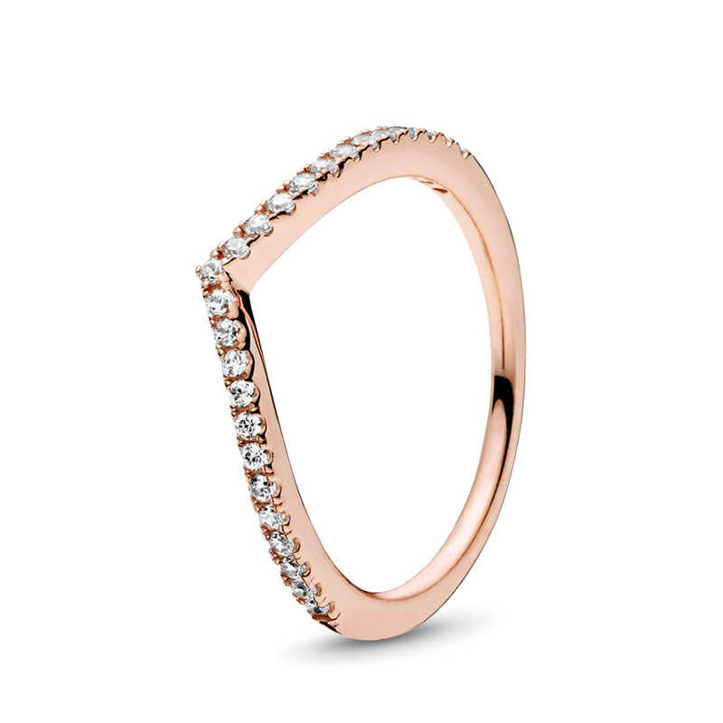 Special Offer Rose Gold Silver 49 Styles Fit Fine Finger Ring Stackable Party Round Ring Women Original Jewelry Gift 2019 New