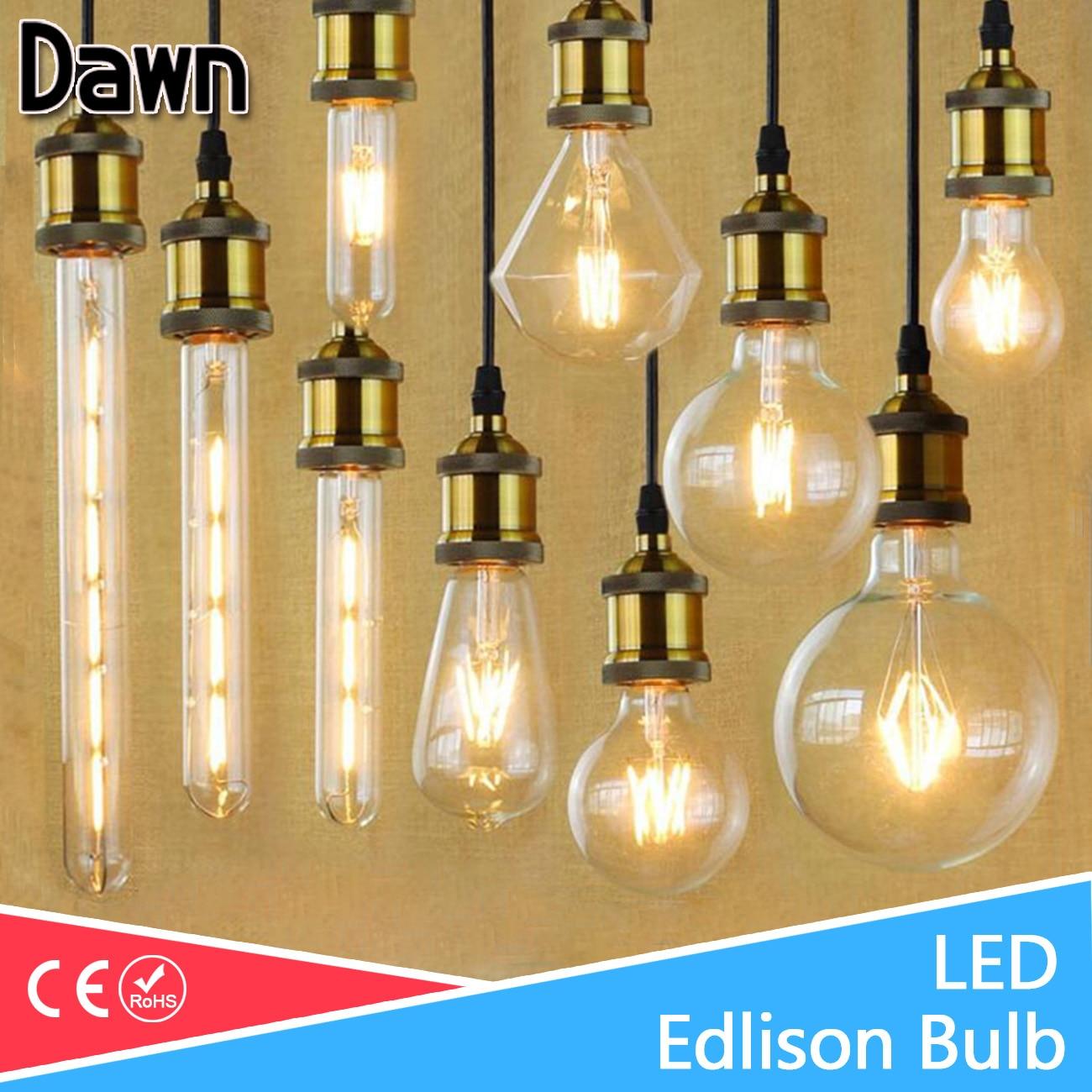 Lampada LED Filament Glass Light Edison Blub Lamps 220V LED Edison chandelier E14 E27 240V Vintage Led Bulb 2W 4W 6W 8W 12W 1x new design led filament e14 bulb dmimable 2w 4w 6w ac 220v 230v lamp edison glass candle lights lighting for chandelier
