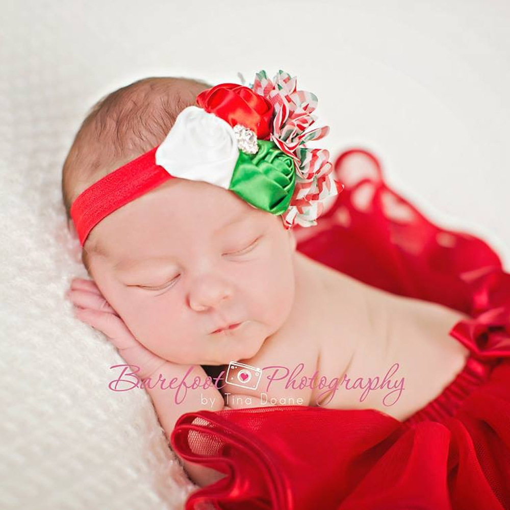 50PCS/LOT New Style Large Christmas Colorful Ribbon Bows With Hair Clips Boutique Flowers kids Hair Accessories DIY Headbands