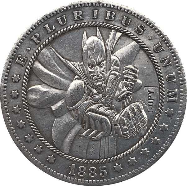 Hobo Nikkel 1885-CC VS Morgan Dollar MUNT COPY Type 118