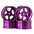 Mxfans 4 PCS Aluminum Alloy Wheel Felloe RC 1:10 On-Road Rimmer Black Wheel Rims