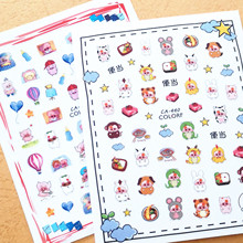 3D nail sticker Newest CA-440 442 cartoon pattern nail decal back glue Japan style rhinestones DIY decoration for nail art 3d nail art fimo soft polymer clay fruit slices cartoon for nail manicure sticker cell phones diy designs wheel decoration czp35