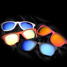 2016 New Fashion Brand Design Men/women 2140 Myopia Sunglasses Clip TR90 Polarized Clip-on Lenses Reflective Mirror Lenses