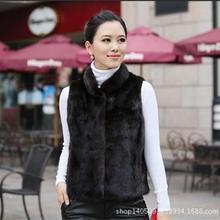 Новинка, короткое пальто с кроличьим мехом для девушек, теплое осенне-зимнее модное женское пальто с воротником из искусственного меха, приталенный черный, белый жилет, женский жилет