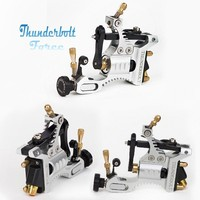 Rotary Tattoo Machine Tatto Gun Silver/Black Thunderbolt Force Rotary Machine for Tattoo Body Art