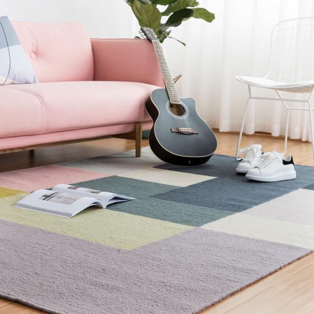 100% Wolle Kelim Teppich Geometrische Böhmen Indische Teppich Parlor Rosa  Wohnzimmer Plaid Striped Modernen Schwarz
