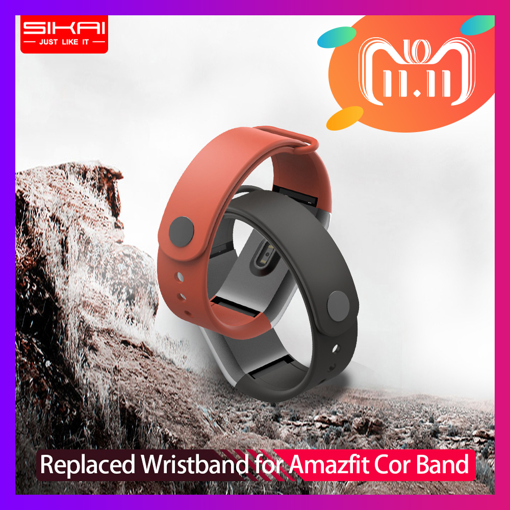 SIKAI Wrist Strap for Amazfit Cor Band Replaced Cor Band for Xiaomi Huami Midong Amazfit Cor Band TPE material Wristband спортивный браслет amazfit cor красный
