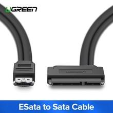 Кабель Ugreen ESATA для Sata с двумя мощностями 22 Pin USB ESata Combo для кабеля SATA адаптер для 2,5 «жесткого диска USB Sata кабель