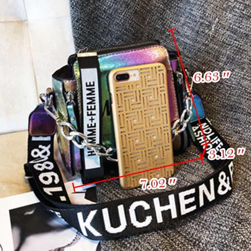 Litthing лазерные женские сумки модные роскошные сумки на плечо цепи сумка через плечо для женщин 2018 письмо мини откидной кошелек bolsa feminina