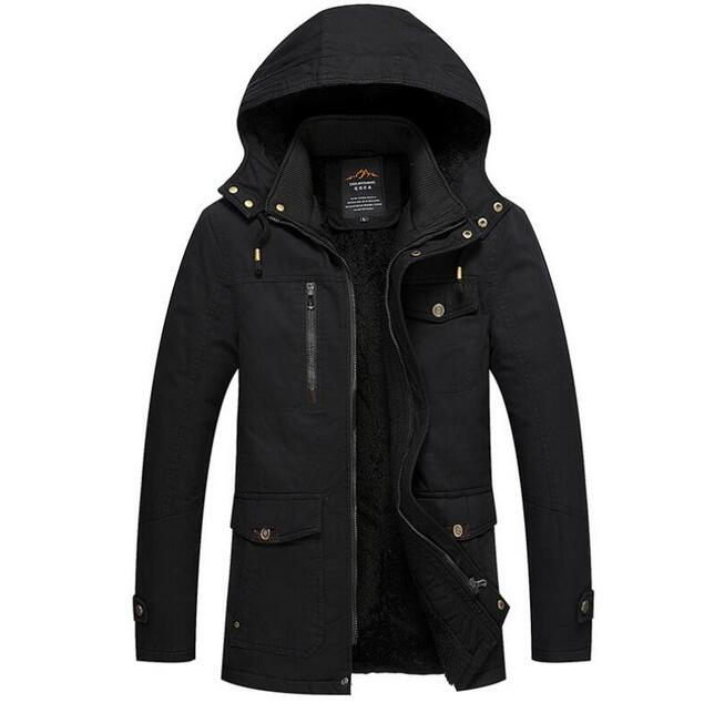 Fur Thick Men Warm Down Jacket Parkas New 2017 Winter 100% Cotton Military Male Coats Clothing Loose Hoodie Windbreak Plus Size free shipping winter parkas men jacket new 2017 thick warm loose brand original male plus size m 5xl coats 80hfx