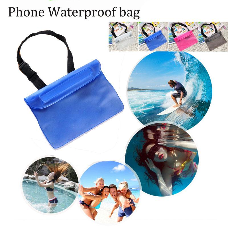 22*18 Cm Waterproof Bag For Swimming Drifting Spa Waterproof Pouch Phone Bag Money Case With Waist Strap Swimming Pool Bag Cover