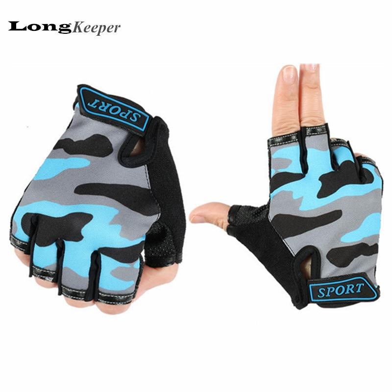 LongKeeper Hot Gloves for Kids Fingerless Half Finger Children Boys Girls Gloves Cool Christmas Gifts for Kid 2017