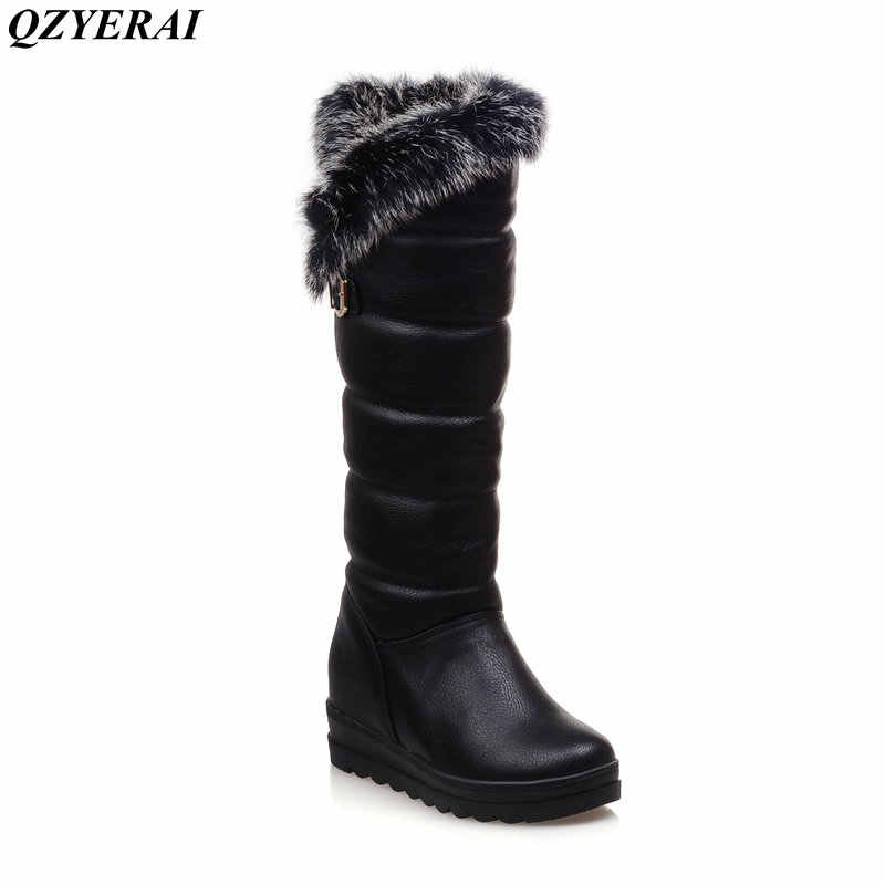 2fc37ac59b90 Detail Feedback Questions about QZYERAI European winter to the knee to keep  warm snow boots rabbit hair women s boots anti skid shoes waterproof women s  ...