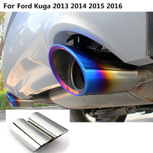 car styling cover muffler exterior end pipe dedicate outlet exhaust tip tail 2pcs For Ford Kuga 2013 2014 2015 2016