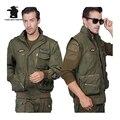 Jaqueta de homens militares Americanos Pilotos Da Força Aérea Do Exército Homens Mangas Destacáveis Jaqueta Para Homens Plus Size Casaco M ~ 3XL D35F7717