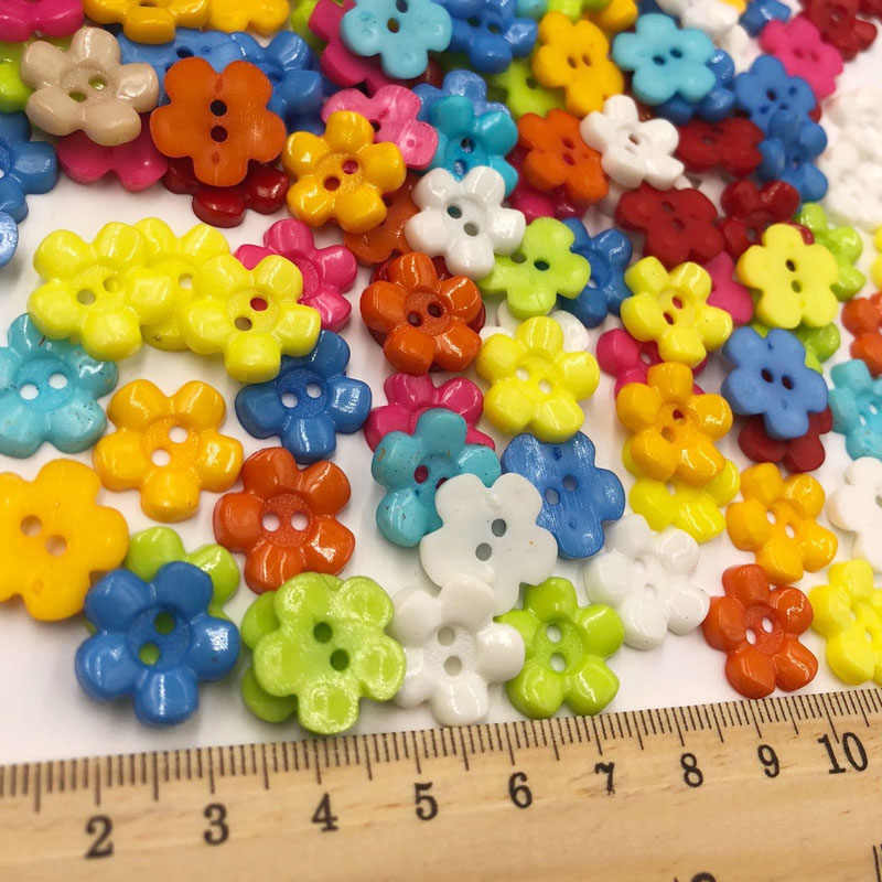 10/50/100pcs Mix New Plum 14mm 2holes Plastic Button/Sewing lots PT70