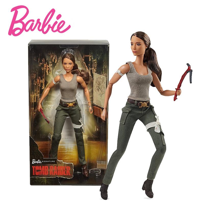 Оригинальный Барби 2018 Новый Tomb Raider лимитированная коллекция принцессы для девочек подарок на день рождения модель куклы подвижные совмест...