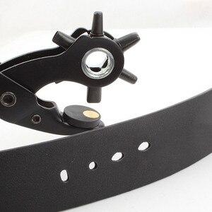 Image 3 - חדש כבד החובה רצועת עור חור אגרוף יד Plier חגורת אגרוף מסתובבת DIY כלים HG99