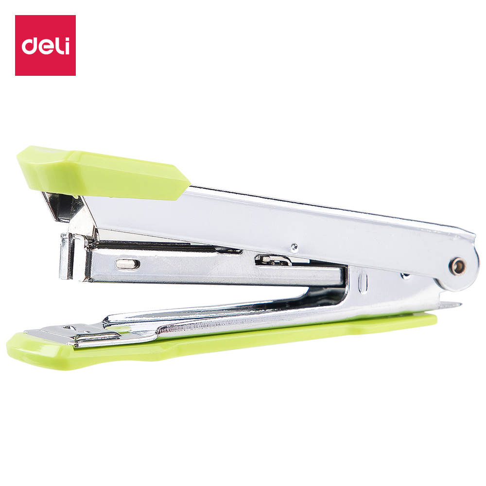 DELI Stapler NO.10 Metal Durable Fashion Color Stapler 0224F Shool Stationery Office Supply Staples Office Accessories