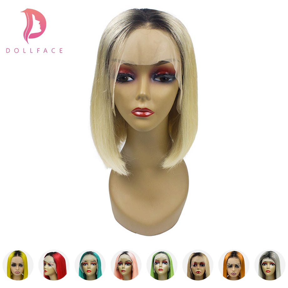 Ombre human hair wig Blonde 613 Short Bob lace front human hair wigs for black women