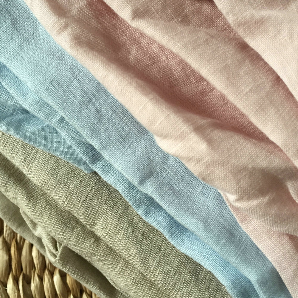 30color 100 Linen Fabric For Bedding Sheets Linen Curtain
