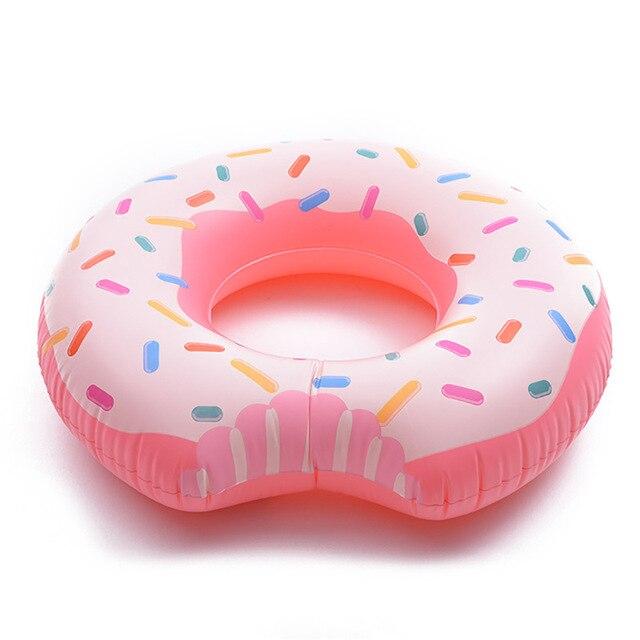110cm inflável donut natação anel gigante piscina float círculo praia festa inflável passeio no colchão adulto boia piscina
