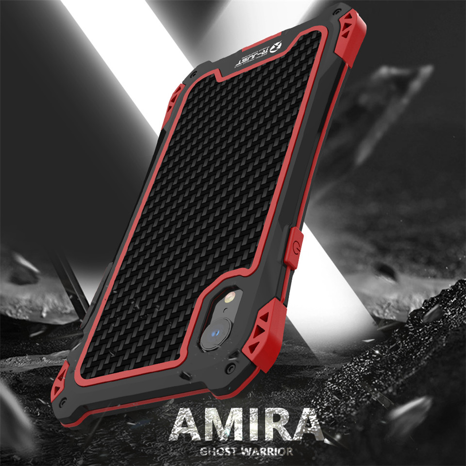 Image 4 - Armor Case for Iphone Xs Xs Max Xr X Luxury Metal Frame Silicone  Bumper Hybrid Shockproof 360 Full Protection Carbon Fiber CoverFitted  Cases