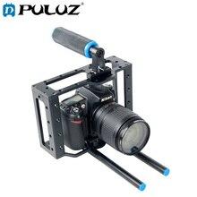 PULUZ YLG0107E Protetora Gaiola Câmera DSLR Estabilizador de Vídeo Pega Estabilizador Steadicam/Top Handle Set (Black)