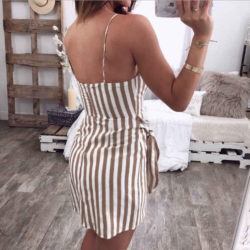 b9e934271f ... 2018 Summer New style Fashion Women's Holiday Strappy Striped Ladies  Summer Beach Shorts Midi Swing Sun ...