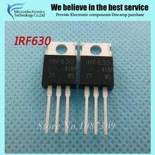 10 pcs frete grátis IRF630 TO-220 MOSFET Ch N-200 Volt 10 Amp original novo