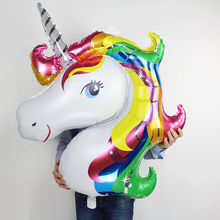 1pcs baby shower favor birthday party children unicorn balloon decor rainbow 2018 new party supplies wedding child big shower