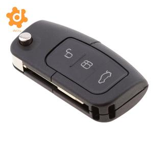 3 Buttons Car Key Flip Folding Fob 433MHz with 4D60 Chip for Ford Focus Mondeo C Max S Max Fiesta Galaxy