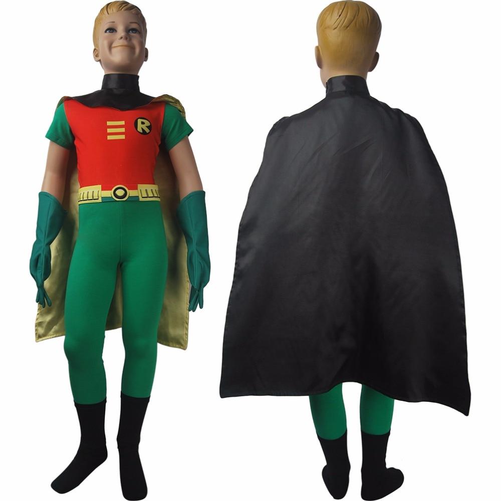 Teen Titans Go! superhero Robin suit cosplay halloween costume top cape gloves boots eye-mask xmas birthday gift toys