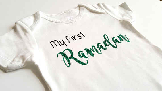 Ramadan Kareem Baby Sort Sleeve One Piece Bodysuit