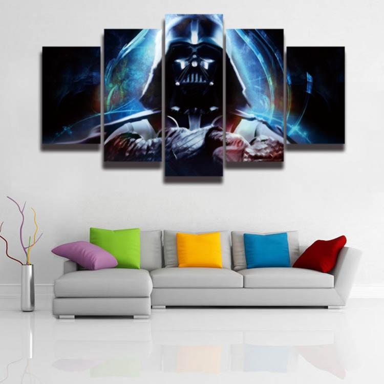5 Panel Płótno Wall Art Star Wars Darth Vader Modułowa Obrazu Hd