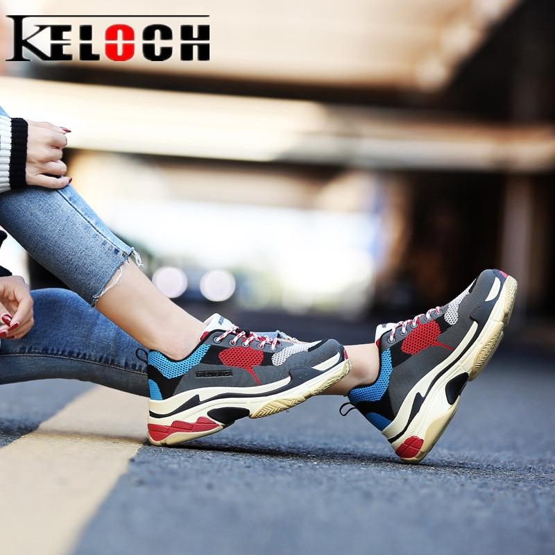 Keloch Korean style Autumn Winter Sneakers Men Women Running Shoes Outdoor Women Krasovki Comfortable Walking Sport Shoes Men