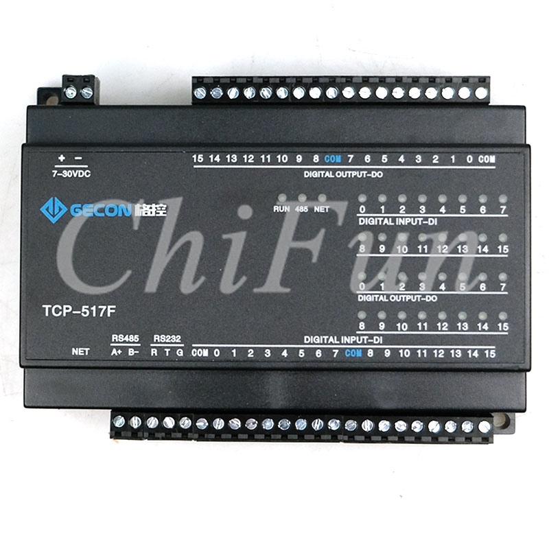 Upgrade 16DO transistor output switch isolation 16DI digital input Ethernet MODBUS communication with Indicator display