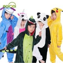Pijama de natal Dos Miúdos Das Meninas Dos Meninos das Crianças pijama Onesie Cosplay Totoro Animal unicornio Pikachu Dinossauro Panda pijama enfant