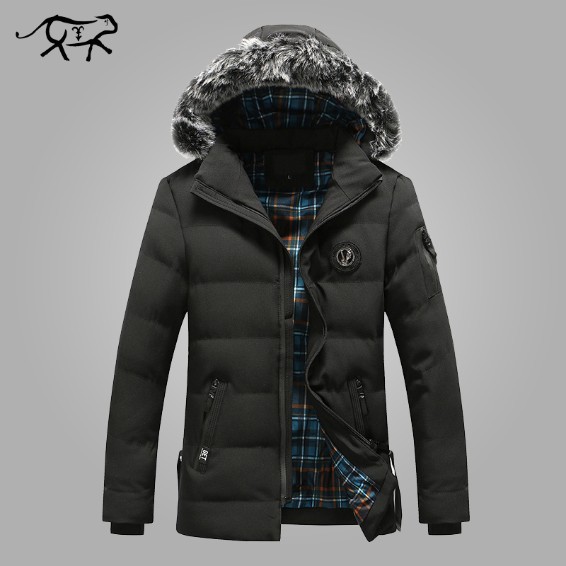 New Arrival Winter Jacket Men Fashion Warm Fur Hood Men's Parkas Casual Cotton Padded Heavy Coats Men Slim Fit Brand Outerwear brand new 2015 men fur hooded cotton padded coats fashion winter women thicken jackets couples overcoats outerwear h4395