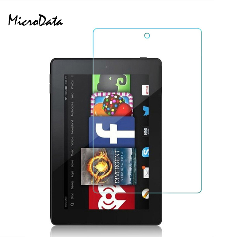 Tempered Glass For Amazon Kindle Fire HD 10 8 7 2017 7.0 8.0 10.0 Inch 0.3mm High Clear Tablet Screen Protector Protective Film