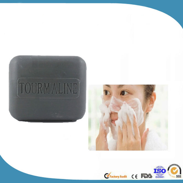 Hot Natural Bamboo Charcoal Soap Black Handmade Soap Remove Blackheads antiaging Wash Face,Bath,Makeup Remover  120g 4