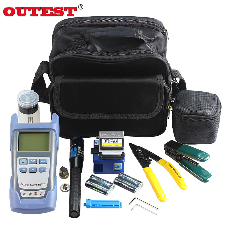 OUTEST 20 In 1 FTTH Fiber Optic Tool Kits Optical Fiber Cleaver Optical Power Meter 1mW Visual Fault Locator Fiber Optic Strippe loz 9402 transformation optimusprime diamond bricks minifigures building block best legoelieds toys