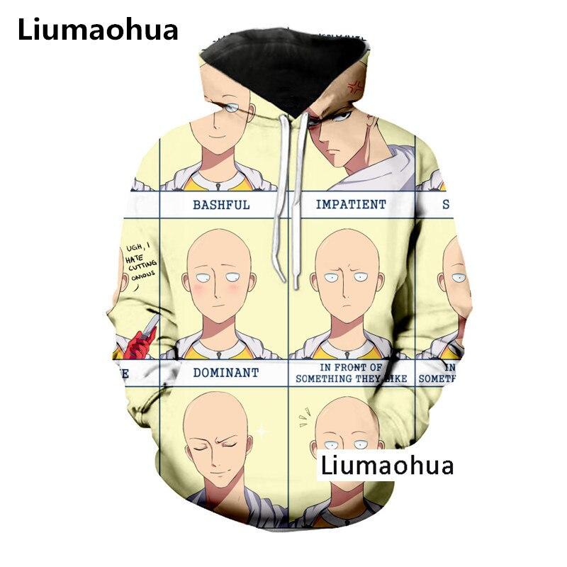 Liumaohua New Fashion2018 Harajuku Superhero Funny Cool One Punch Man Tees Shirts 3D Print T-shirtHoodieSweatshirt Unisex Tops