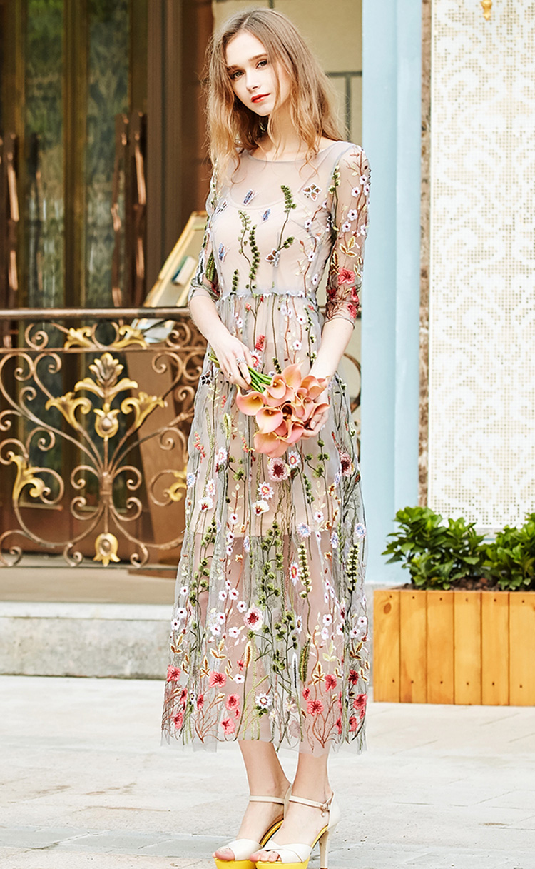 Bohemian Evening Party Dress Gorgeous Style Gypsy Girls