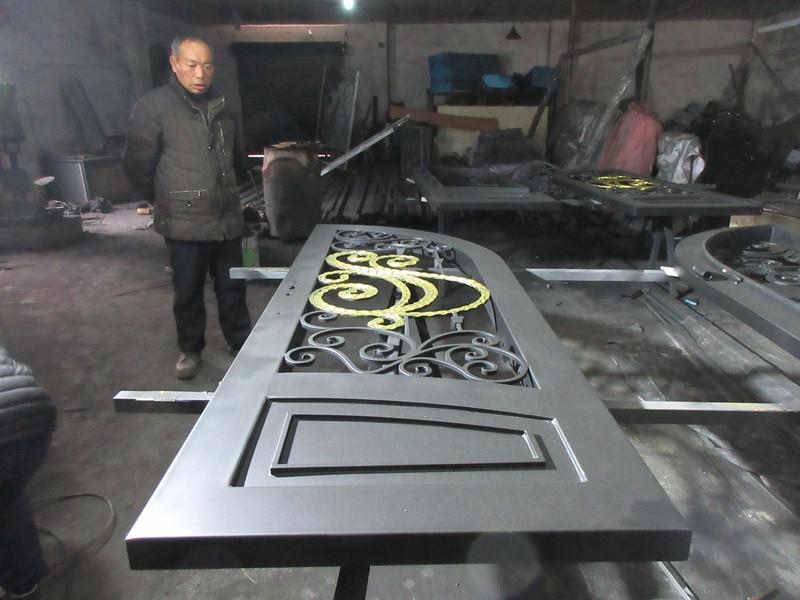 Custom made biggest jamb&door top quality wrought iron doors hench-id10
