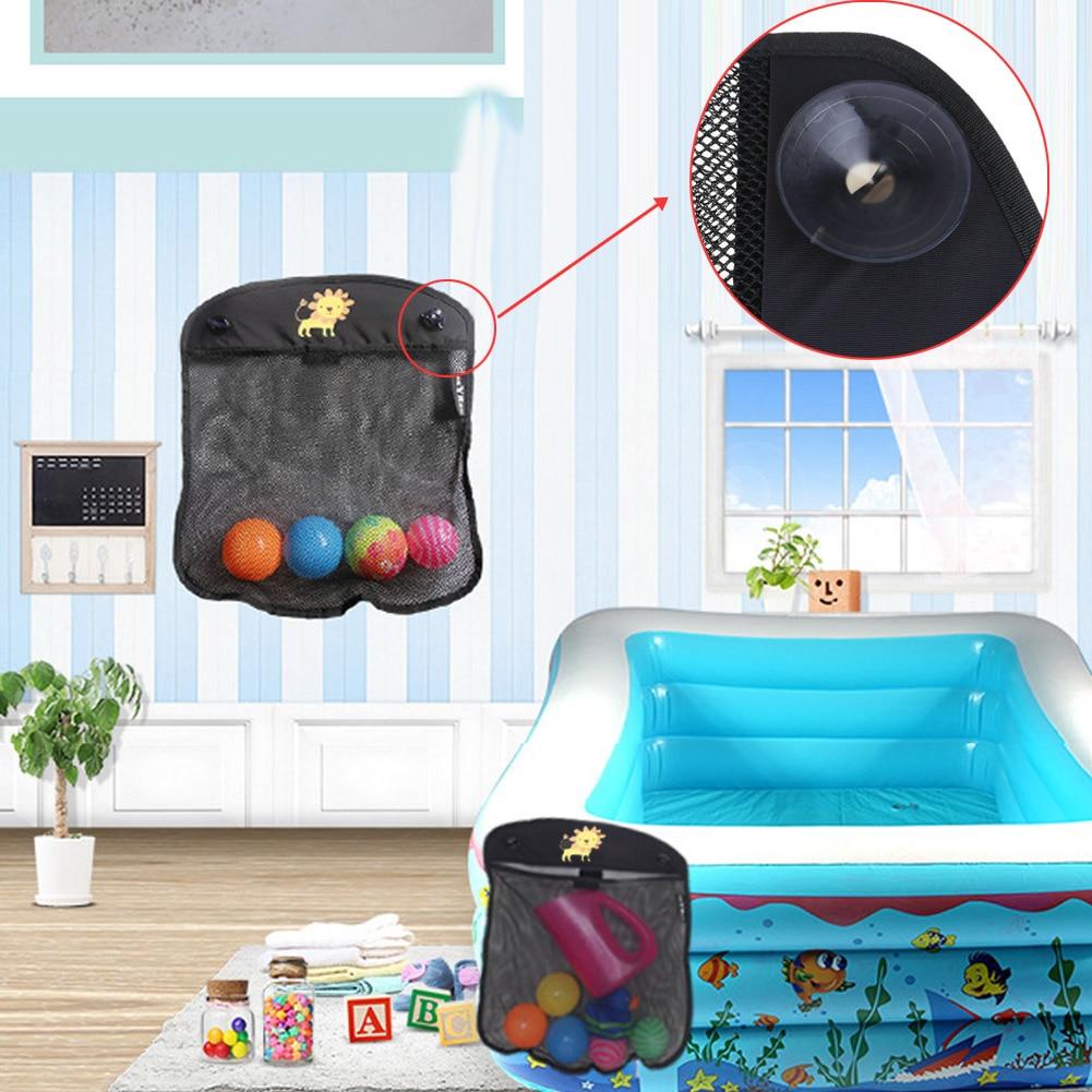 Baby Toy Mesh Storage Bag Bath Bathtub Doll Organizer Suction Bathroom Stuff Net Bathroom Hanging Bags 41 x 34 cm