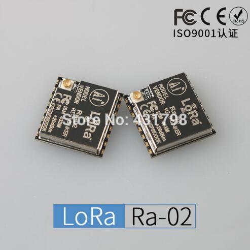 LoRa Series Ra-02 / Spread Spectrum Wireless Module / Ultra-10KM / 433M / RF Chip SX1278 wireless module 433mhz digital broadcasting station lora spread spectrum rs232rs485 5km remote