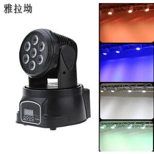 Image 1 - RGBW moving head strahl licht 7*10 watt disco musik steuerung lampe DMX dj par ausrüstung party lichter